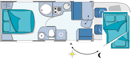 Chausson Flash 49 Layout