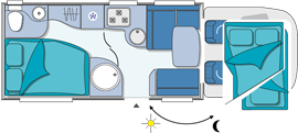 Chausson Welcome 69 Layout