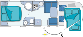 Chausson Welcome 79EB Layout