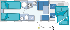 Chausson Welcome 99 Layout